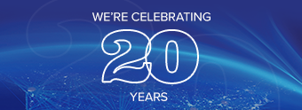 We are celebrating 20 years in business