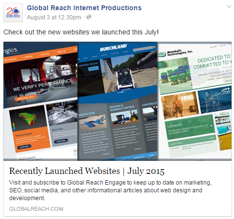 Global Reach shares recently launched websites