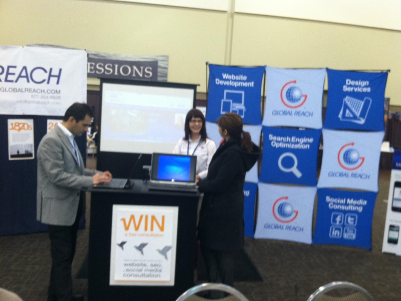 Members of the Global Reach team at the Expo