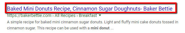 Search engine result for mini donuts.
