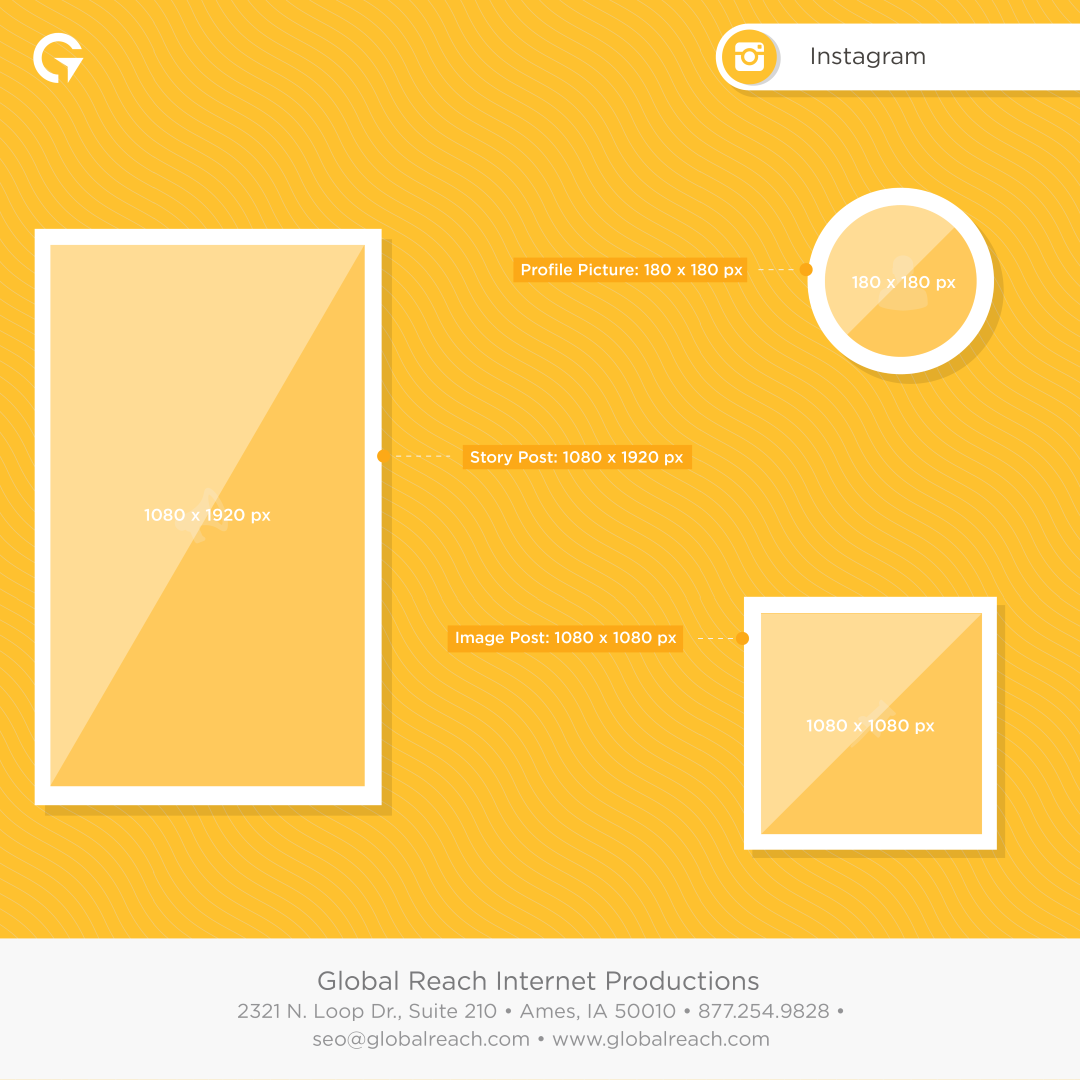 Instagram Image Size Guide by Global Reach