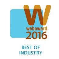 2016 WebAward Best of Industry logo.