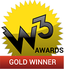 W3 Award Gold Winner logo.