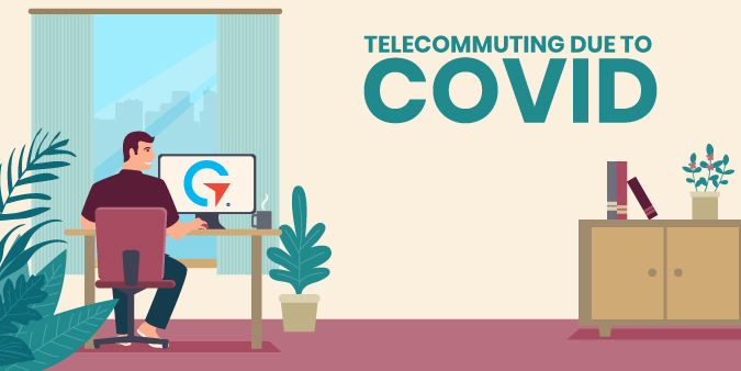 Graphic of Employee Telecommuting