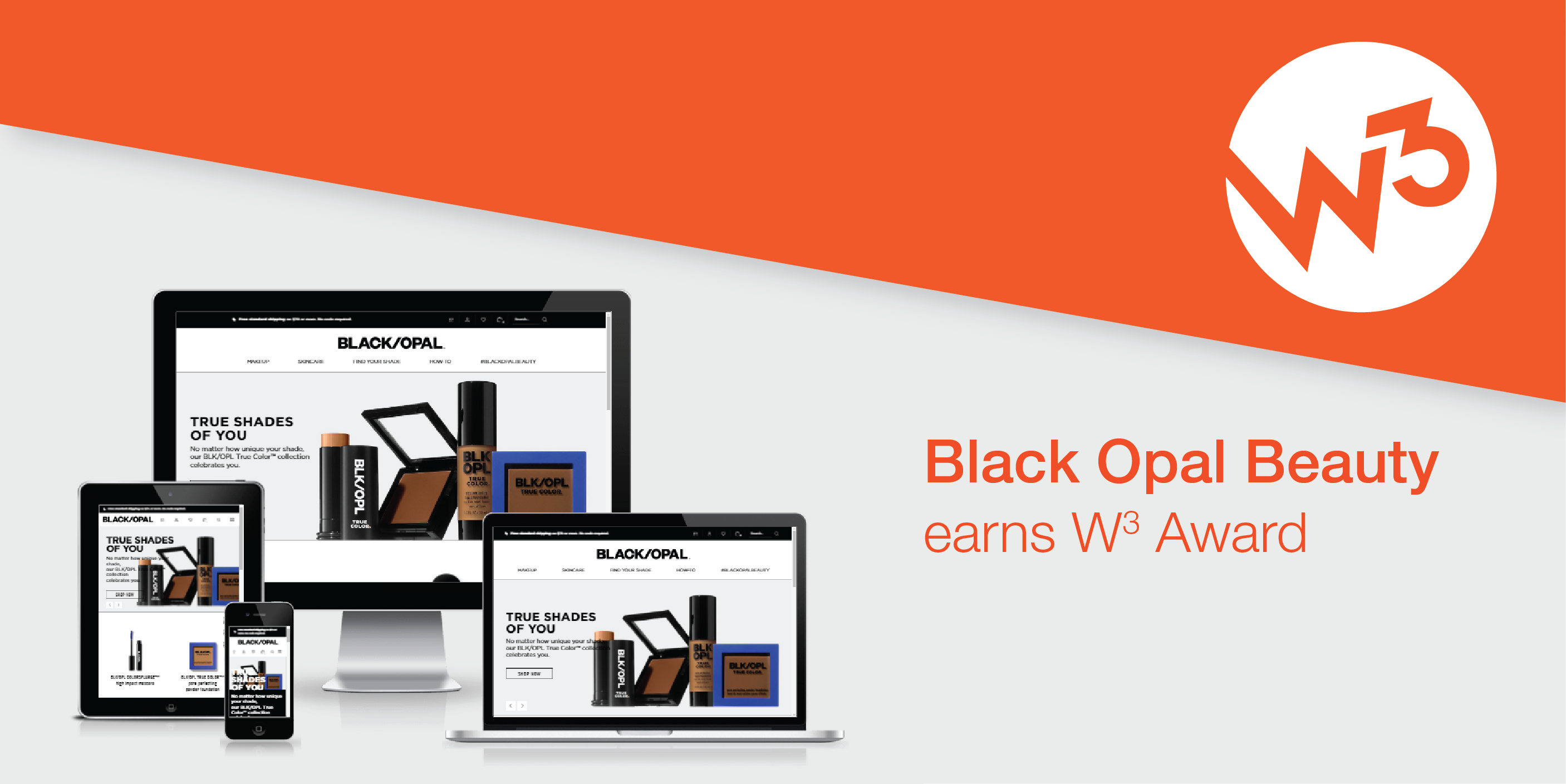 Black Opal website homepage displayed on various devices.