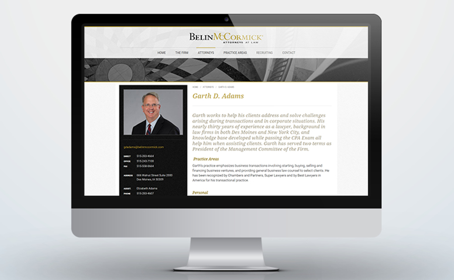 Belin McCormick Attorney Profile example