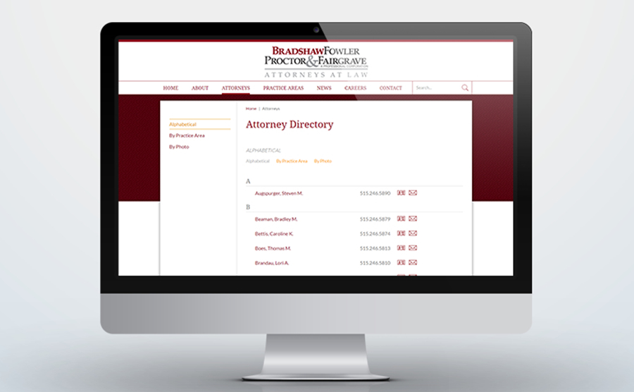 Bradshaw Law attorney directory