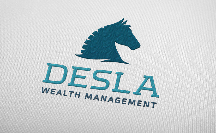 Desla logo embroidery sample