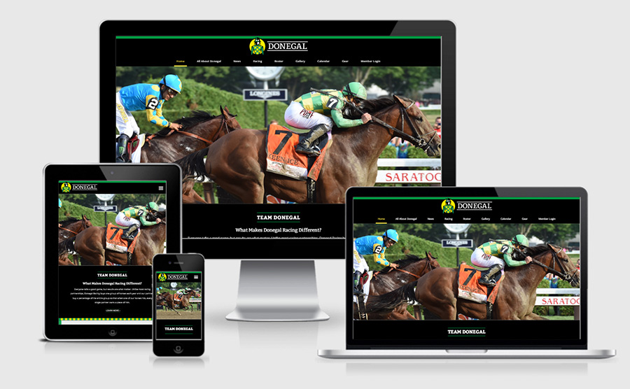 Donegal Racing responsive website showcase
