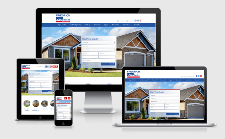 Friedrich Iowa Realty Homepage