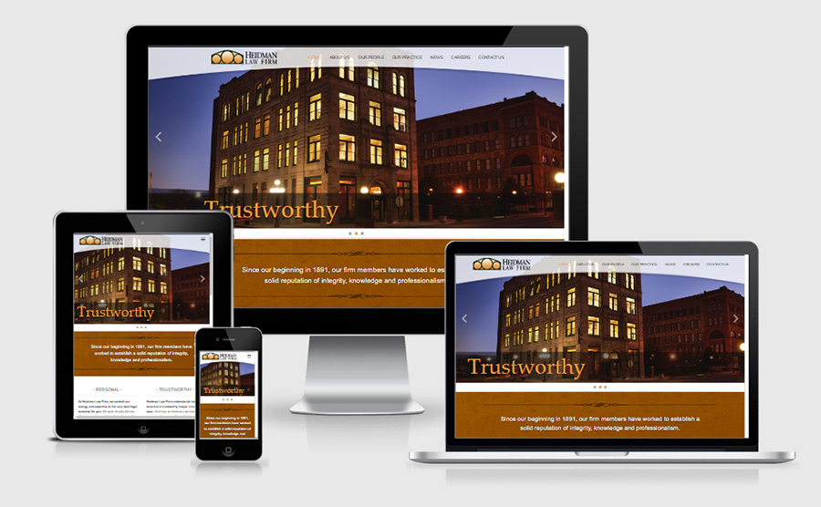 Heidman Law responsive website