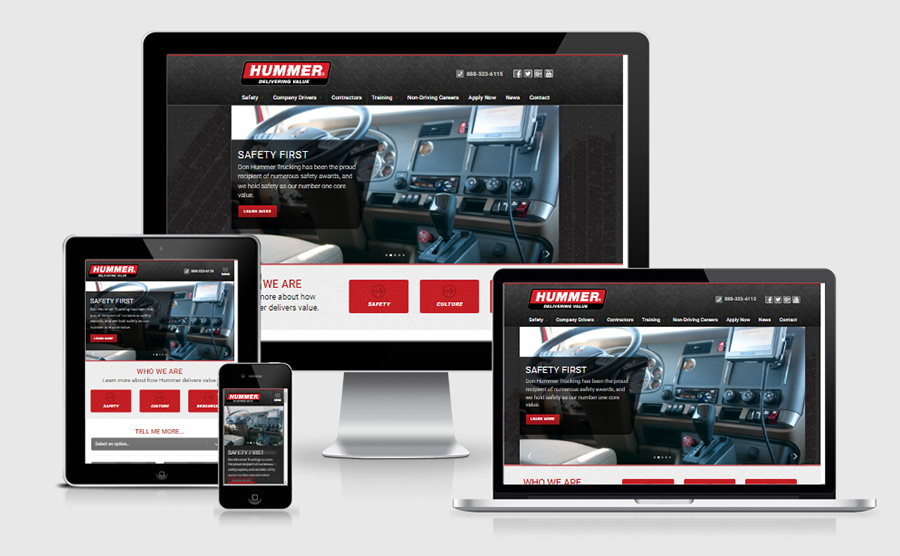 Join Hummer responsive website viewed on various devices.