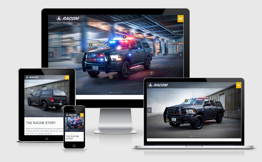 RACOM responsive website showcase