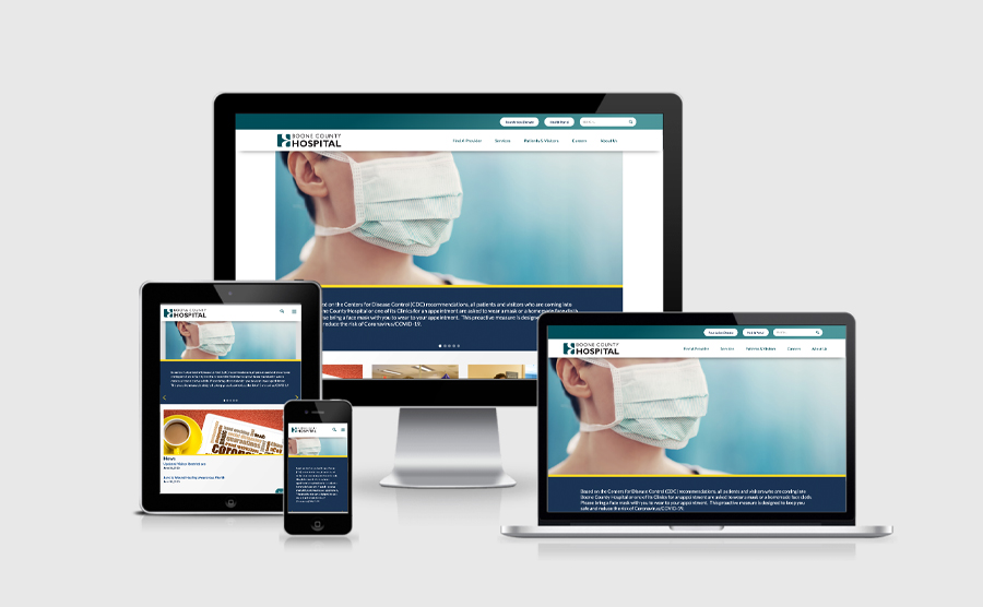 Responsive Image of Boone County Hospital Website Design
