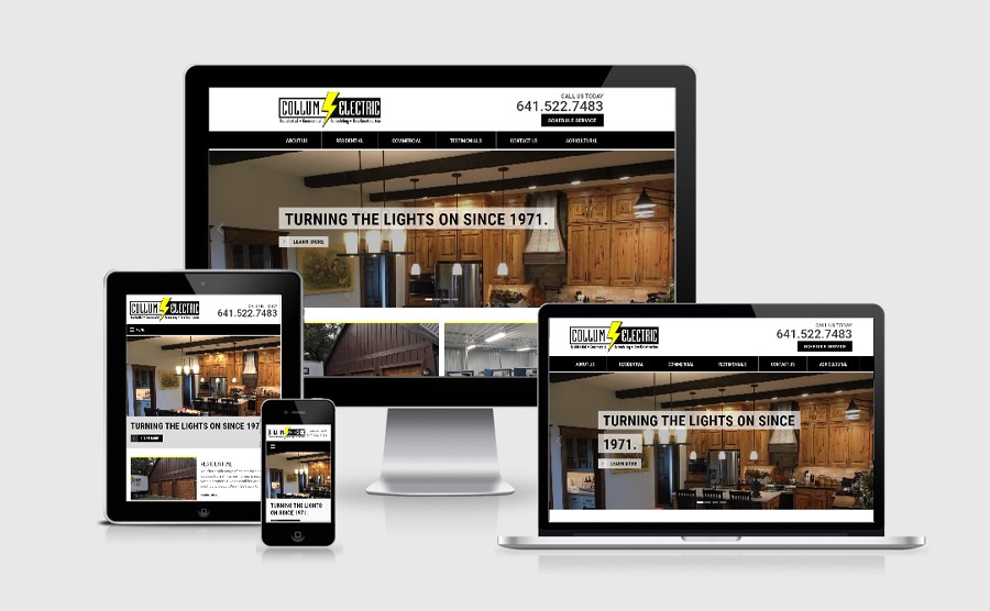 Responsive website image of Collum Electric Services