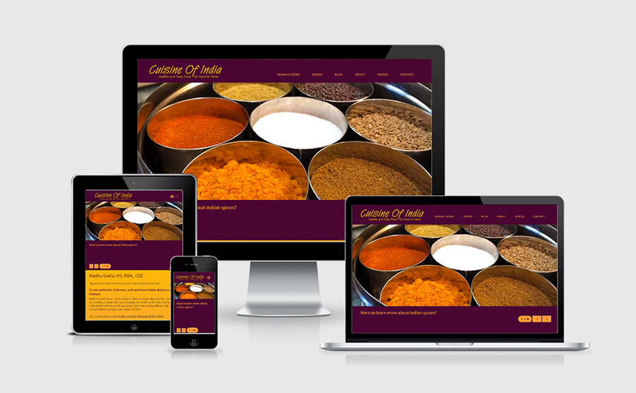 Responsive website image of Cuisine of India