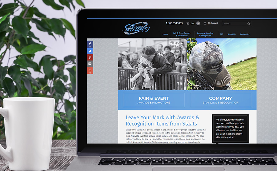 Staats Awards homepage