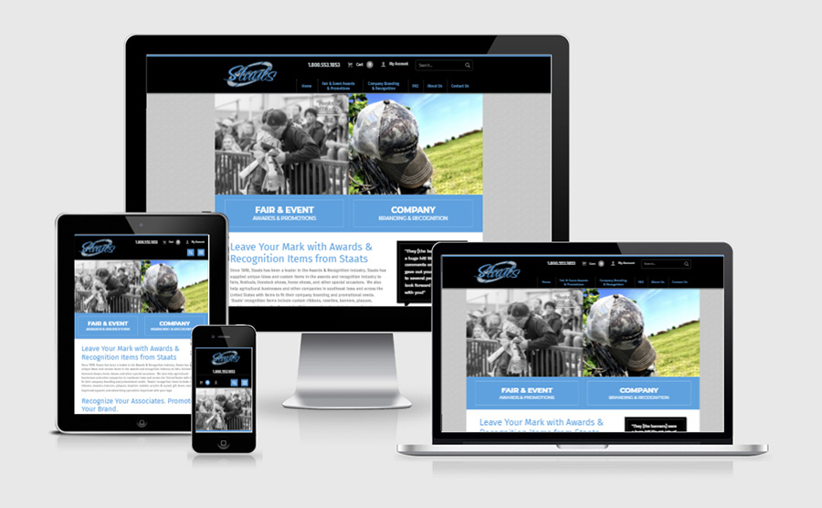 Staats website on various responsive devices