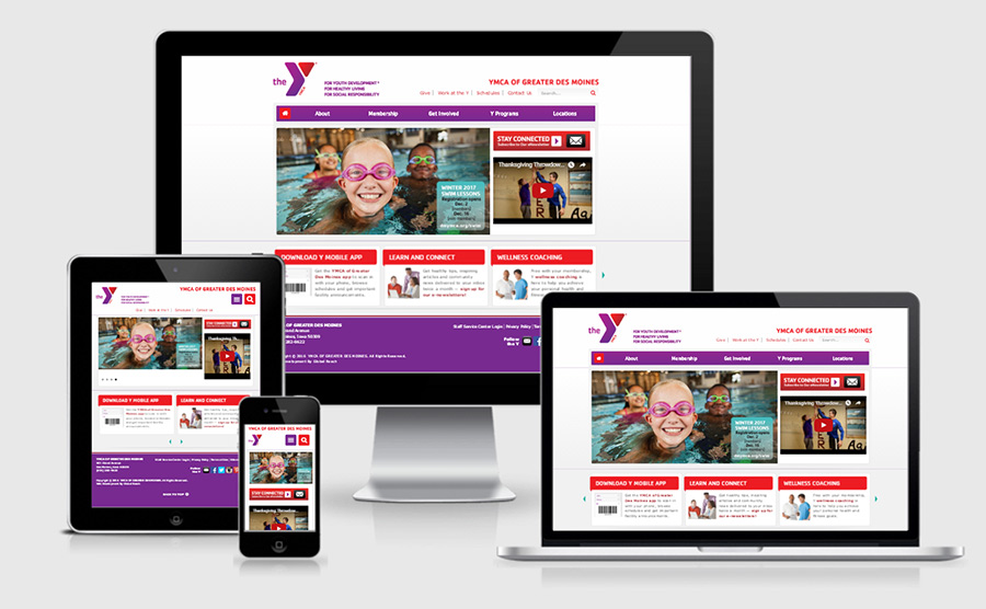 YMCA of Greater Des Moines - Website Showcase