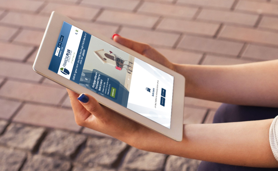 Financial Plus Credit Union Tablet Mockup Image