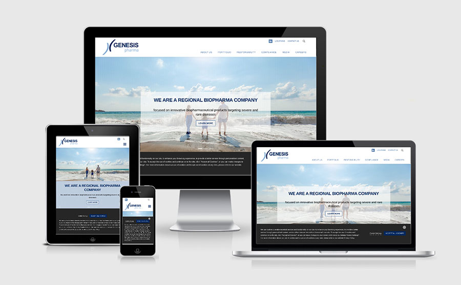 Responsive image of Genesis Pharma (Cyprus) Ltd's website