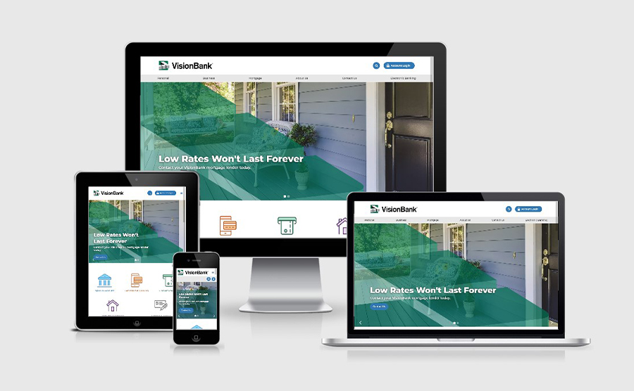 Vision Bank Responsive Website Homepage