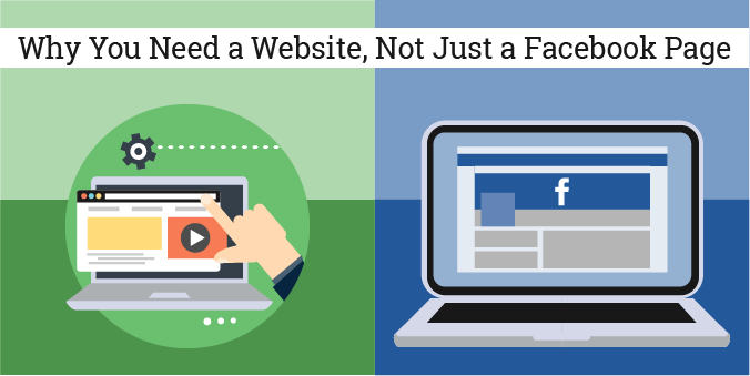 Website vs Facebook page graphics