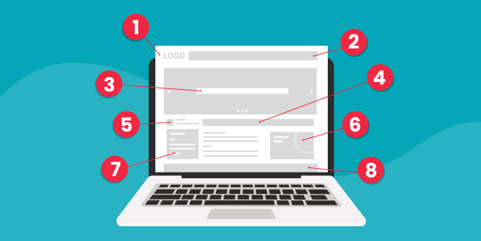 Illustration of 8 Key Features Your Homepage Should Include