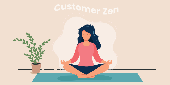 Illustration of a customer finding complete Zen by Global Reach