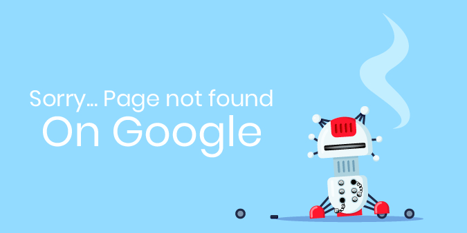 Sorry, your website isn't found on Google Image with a broken robot