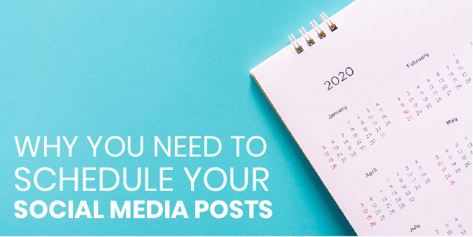 Why social media post schedules matter- image of a calendar