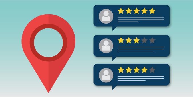 Mockup of animated Google style reviews.