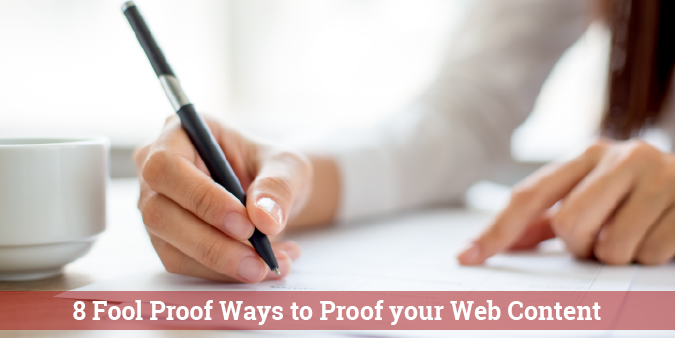 View post titled 8 Fool Proof Ways to Proof Your Web Content