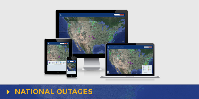 National Electrical Outage Map