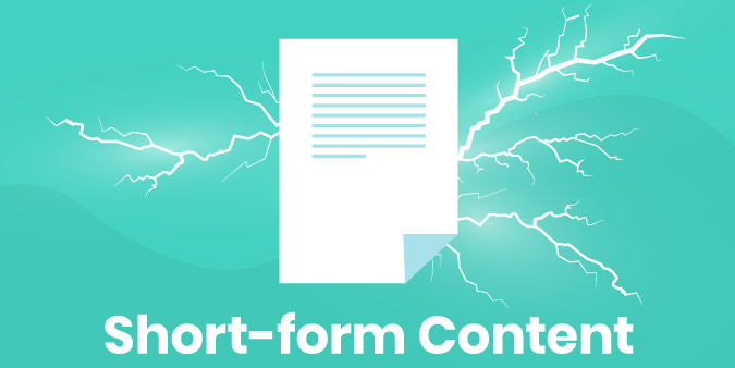 Graphic illustrating the power of short form content